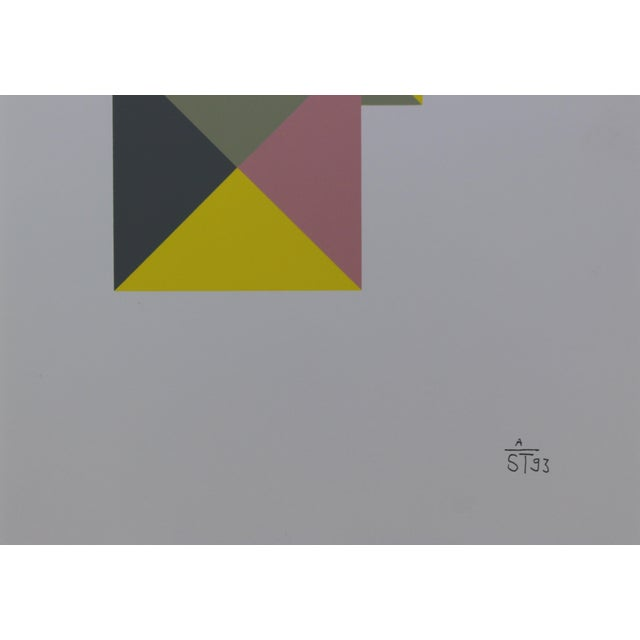 1997 Abstract Serigraph by Anton Stankowski, Limited Edition - Image 3 of 3