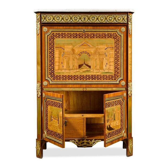 Neoclassical Ornate Secretary by André Gilbert For Sale - Image 3 of 10