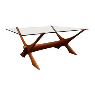 "1960s Scandinavian Modern Fredrik Schriever-Abeln Teak and Glass ""Condor"" Coffee Table For Sale"