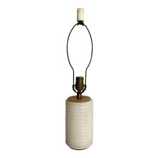 1950s Minimalist Vintage Solid Alabaster Lamp For Sale