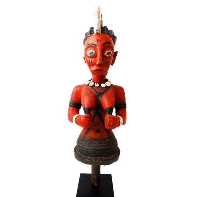 African Baule Ivory Coast Spirit Maiden Sculpture For Sale - Image 9 of 10