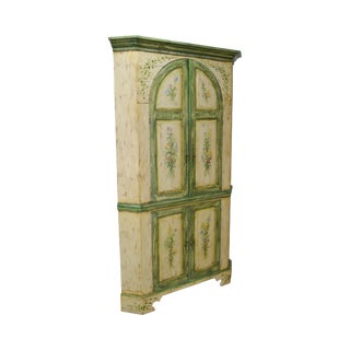 Habersham Plantation Hand Painted Corner Cabinet Cupboard (B)