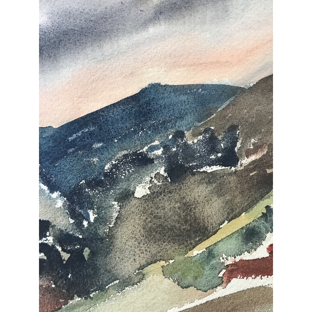 Vintage 50 S Abstract Watercolor Landscape Painting Chairish