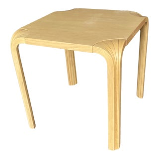 Scandinvian Alvar Aalto Birch Side Table For Sale