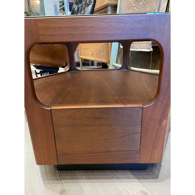 Brown Saltman Vintage Browne Salzman Octagonal Smoked Glass Side Table For Sale - Image 4 of 7