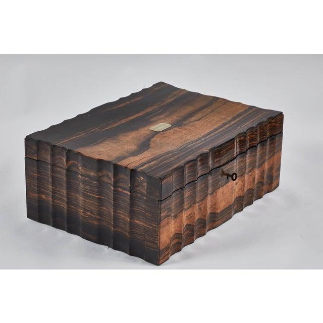 1882 King Ebony Inlaid Presentation Box For Sale - Image 11 of 11