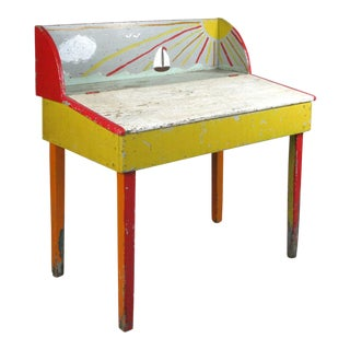19th Century Painted New England Pine Desk For Sale