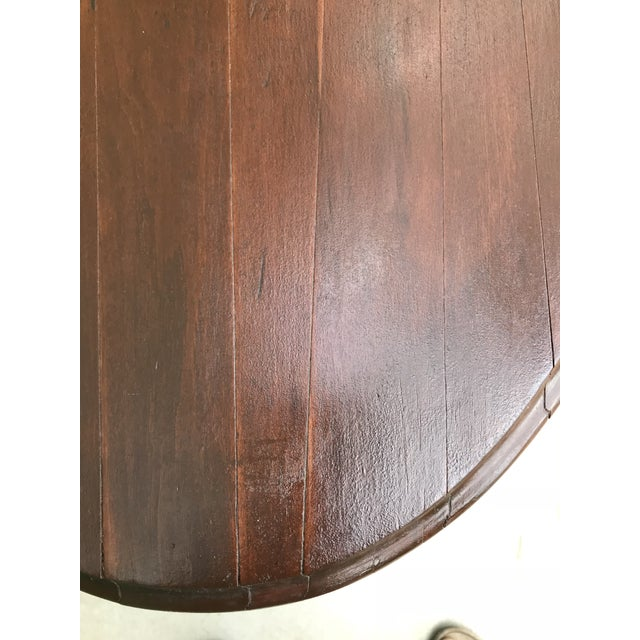 Mid 18th Century Victorian Oval Flip Top or Tilt-Top Table For Sale - Image 9 of 13
