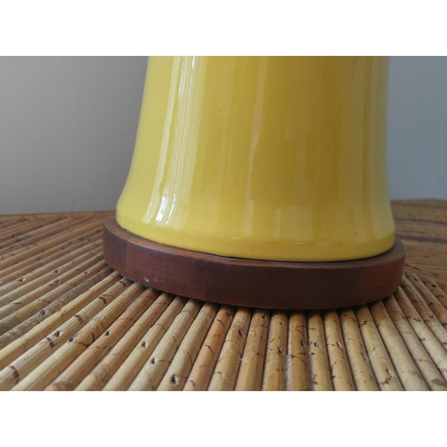 Yellow Bamboo Form Lamp - Image 6 of 7