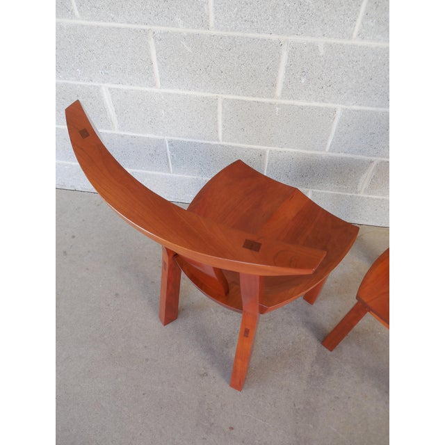 Thos. Moser Cherry Edo Dining Chairs - A Pair - Image 4 of 6