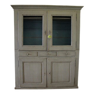 20th Century Rustic Farmhouse Style Cupboard For Sale