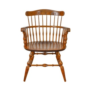 Nichols & Stone Vintage Oak Captains Arm Chair For Sale
