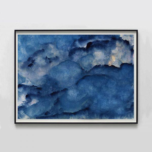 """Contemporary Molly Frances """"Cumulus No. 8"""" Unframed Print For Sale - Image 3 of 3"""
