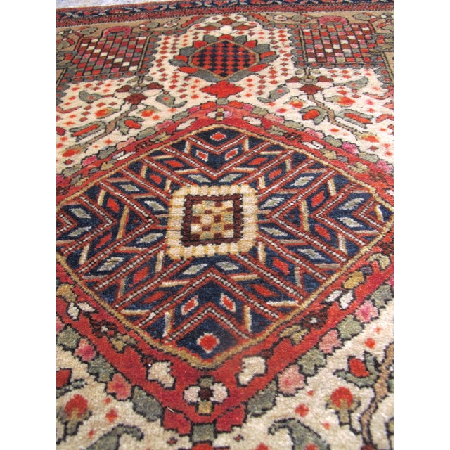 This fine little Fereghan rug was woven as a 'balisht,' or pillow cover, in central Persia. The medallion format is...