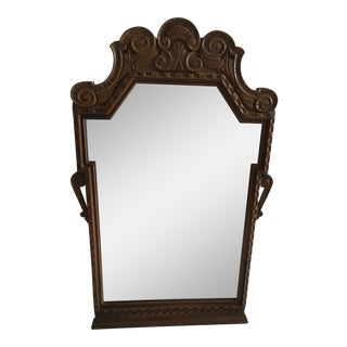 1940's Kittinger Walnut Carved Mirror For Sale
