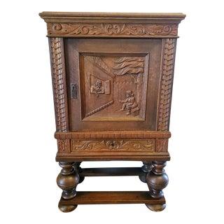19th Century Dutch Renaissance Revival Wedding Cabinet For Sale