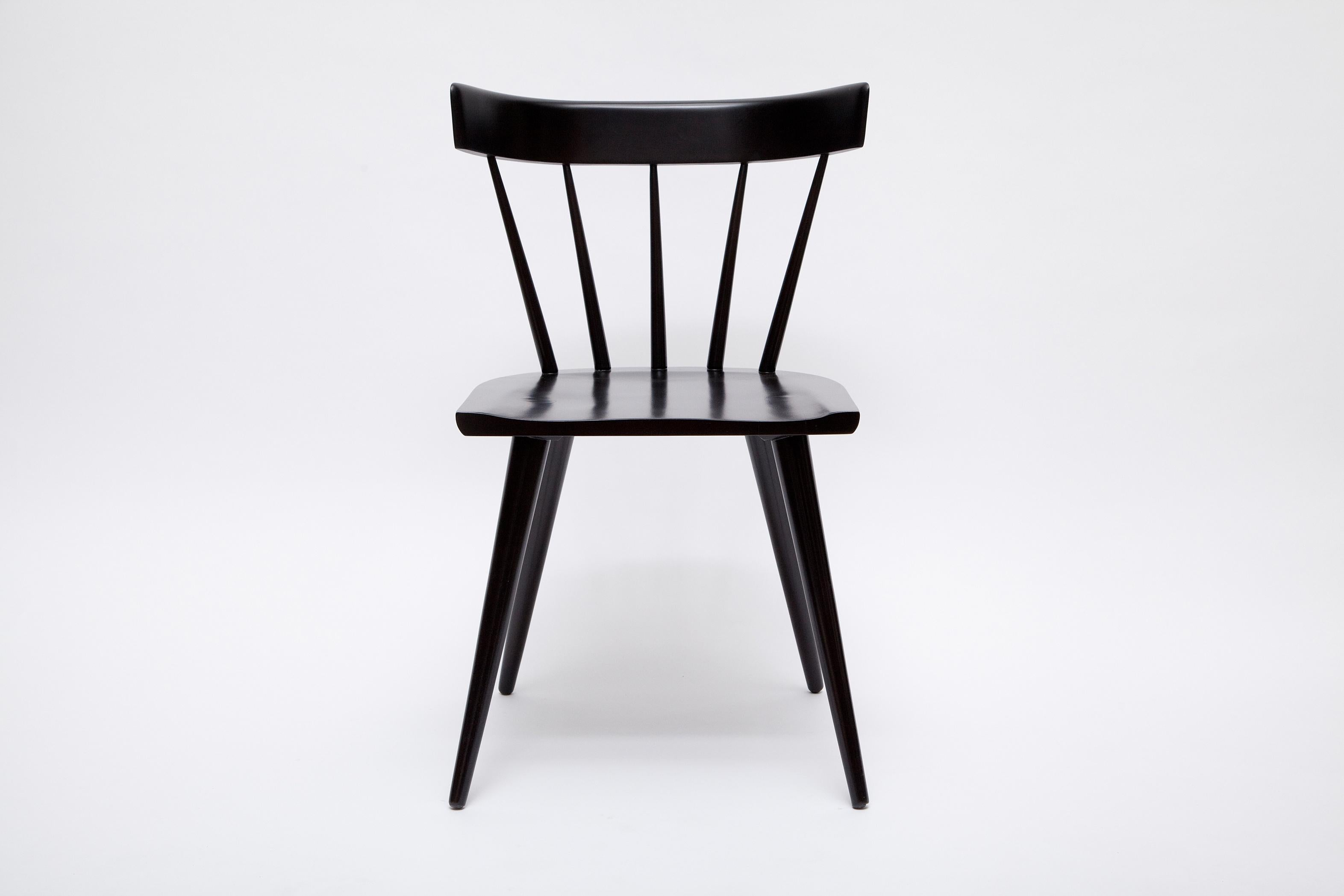 Set Of Six Ebonized Planner Group Chairs By Paul McCobb For Winchendon    Image 2 Of