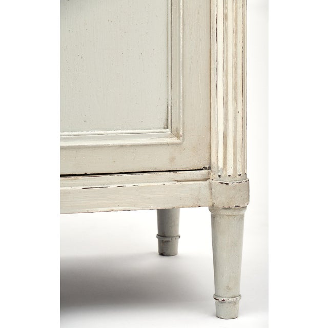 Painted Louis XVI Style Buffet With Marble Top For Sale - Image 10 of 11
