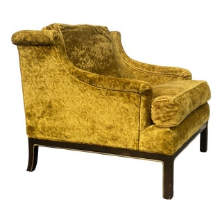 Tomlinson Crushed Velvet Lounge Chair For Sale