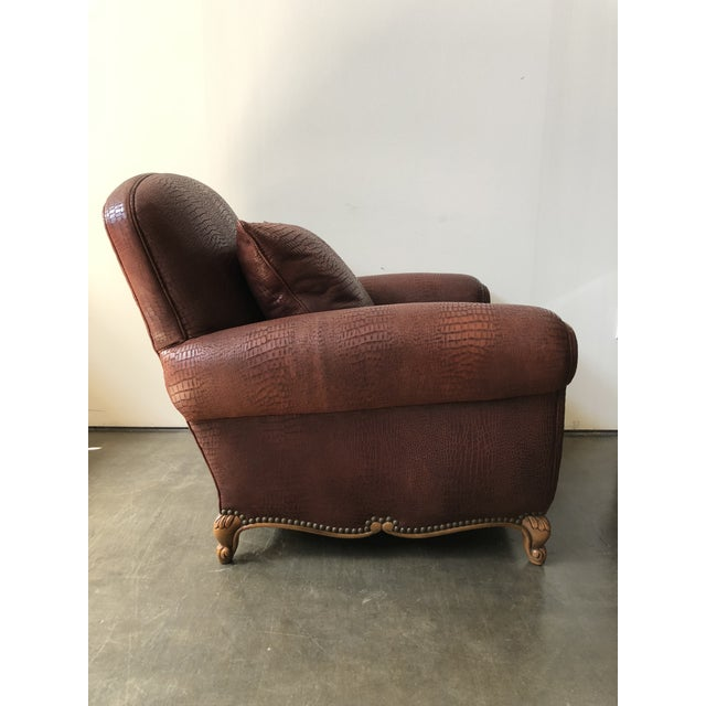 Ralph Lauren Ralph Lauren Home Marseilles Leather Club Chair For Sale - Image 4 of 10