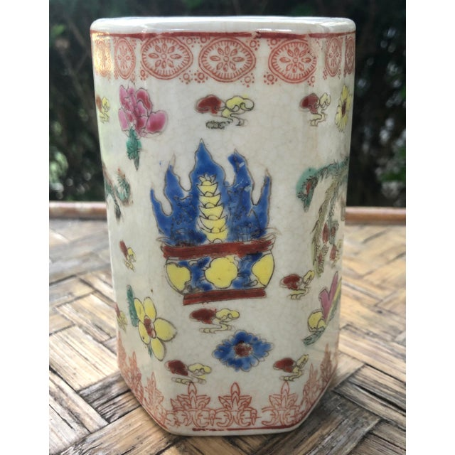 Early 20th Century Early 20th Century Vintage Traditional Chinese Motif Vase For Sale - Image 5 of 13