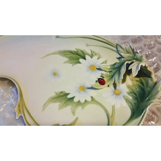 Franz Porcelain Daisy Tray For Sale - Image 4 of 7