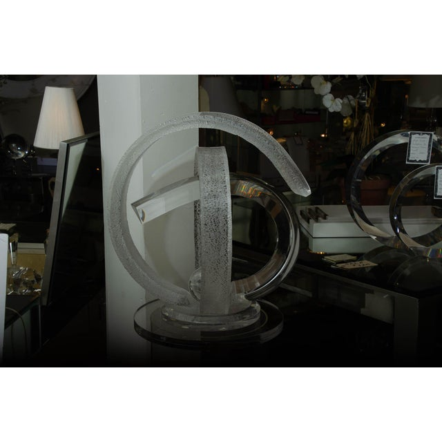 Transparent Signed Lucite Sculpture by Shlomi Haziza For Sale - Image 8 of 10