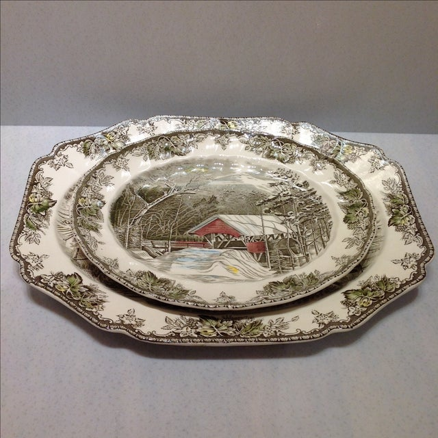 English Platters by Johnson Bros - Set of 2 - Image 2 of 10