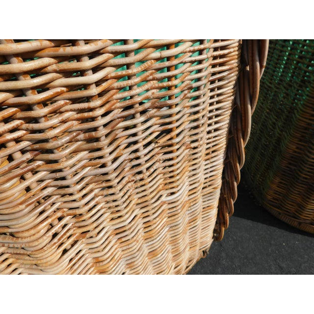 Boho Chic Wicker Stools - A Pair - Image 5 of 9