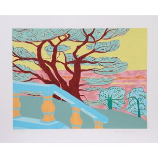 Marion McClanahan - Red Tree Lithograph