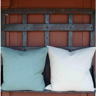 FirmaMenta Italian Solid Sage Green Sustainable Wool Pillow Preview
