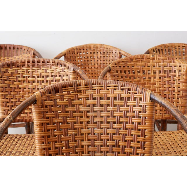Old Hickory Furniture Company Set of Six Old Hickory Twig Hoop Adirondack Armchairs For Sale - Image 4 of 13