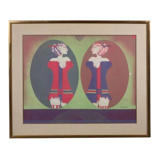 Mid-Century German Paul Wunderlich, Les Soeurs Lithograph For Sale