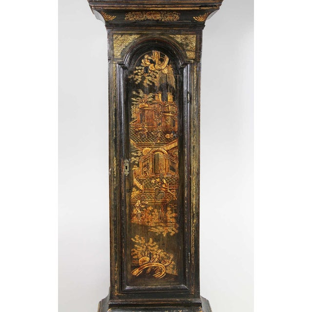 George III Green Japanned Tall Case Clock For Sale In Boston - Image 6 of 11