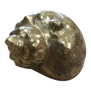1960s Italian Bronze Seashell Sculpture For Sale