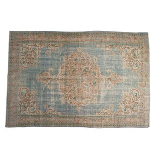 "Vintage Distressed Oushak Carpet - 6'2"" X 9'"