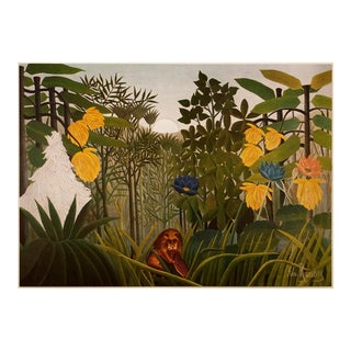 "Vintage ""The Repast of the Lion"" Lithograph by Henri Rousseau For Sale"