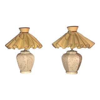 Mid Century Chapman Style Art Deco Chinoiserie Table Lamp With Shades - a Pair For Sale