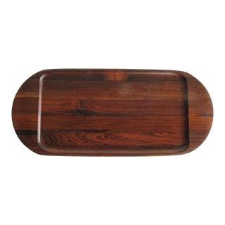 1960s Brazilian Jacaranda Wood Tray Designed by Jean Gillon For Sale