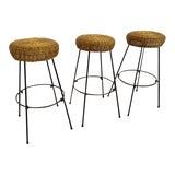 Image of Mid-Century Tony Paul Barstools- Set of 3 For Sale
