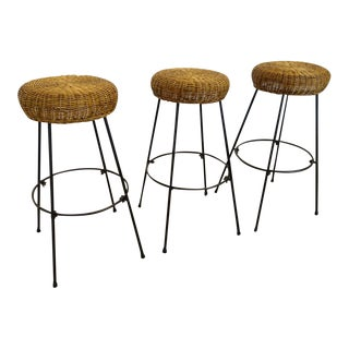 Mid-Century Tony Paul Barstools- Set of 3 For Sale