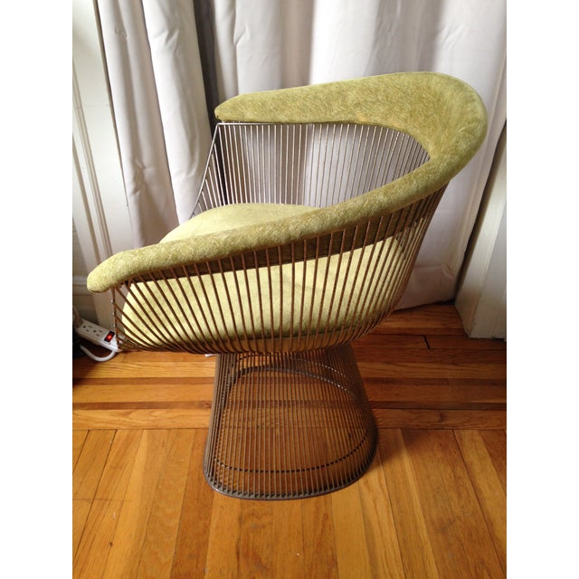 Mid-century design from Knoll. Light surface aging, in good condition. Price is per chair, two available. Polished nickel....