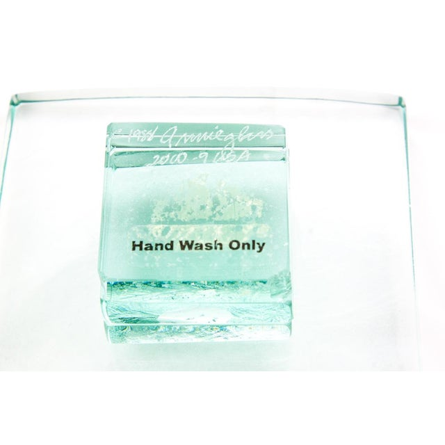 Annieglass Green Glass Serving Dishes - A Pair - Image 5 of 5