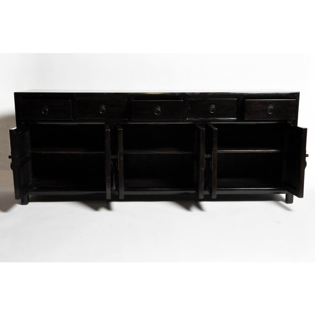 2010s Five-Drawer Chinese Sideboard with Three Shelves For Sale - Image 5 of 13