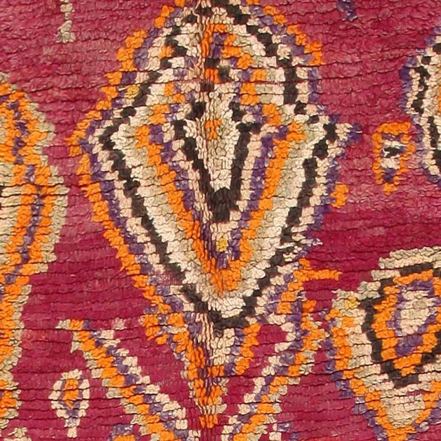 Mid 20th Century Vintage Moroccan Primitive Runner Rug - 4′5″ × 13′ For Sale - Image 5 of 7