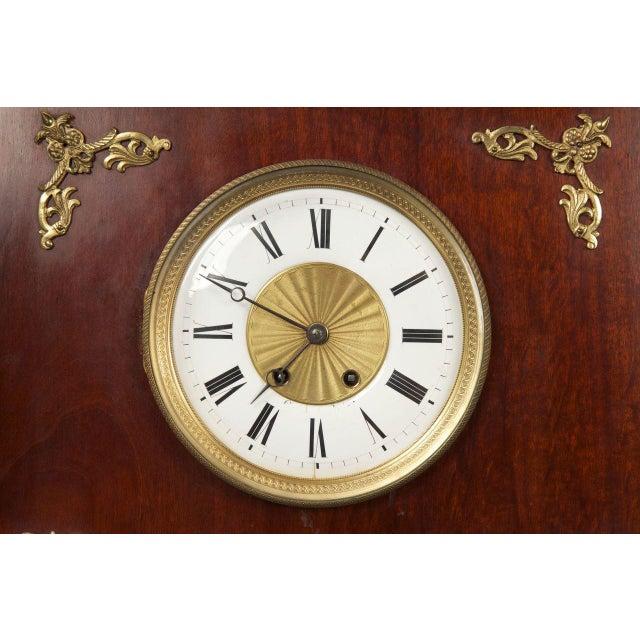 Circa 1910 Egyptian Revival Empire Style Mahogany Longcase Clock - Image 4 of 10
