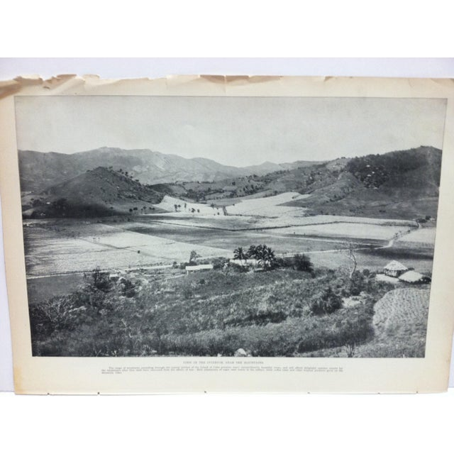 "This is a vintage Our Islands and Their People print that is titled ""View in the Interior - Near the Mountains"" from The..."