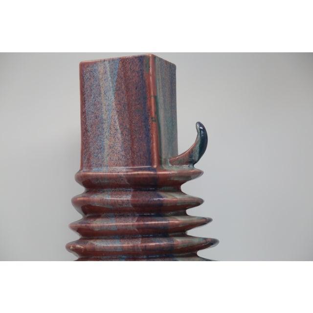 Vintage Mid Century Horned Vase For Sale - Image 4 of 5