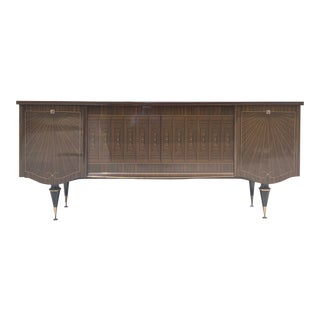 1940s French Art Deco Macassar Ebony Sideboard/Credenzas /Bar. For Sale