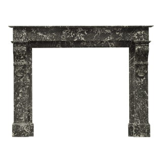 Antique French Fireplace Mantel in Sainte Anne Marble For Sale